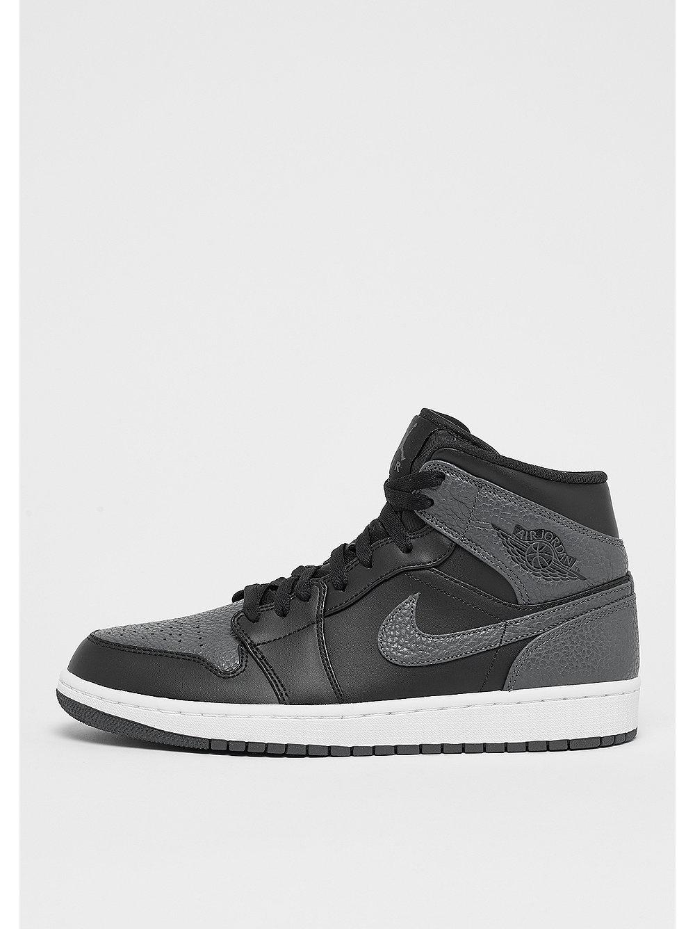 Jordan herensneaker zwart, grijs en wit