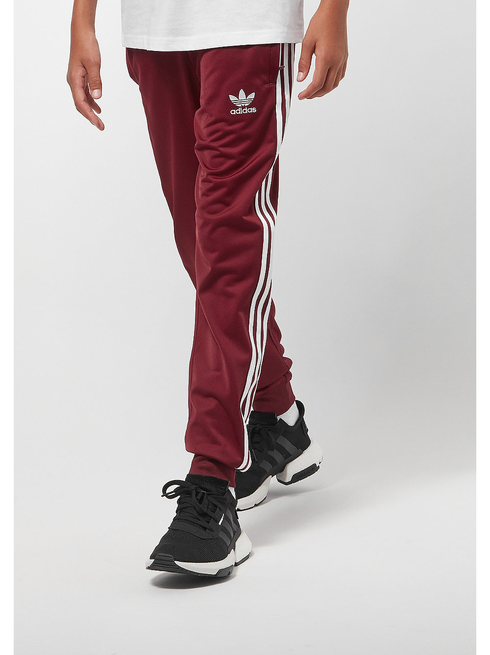 adidas J Super Star collegiate burgundy