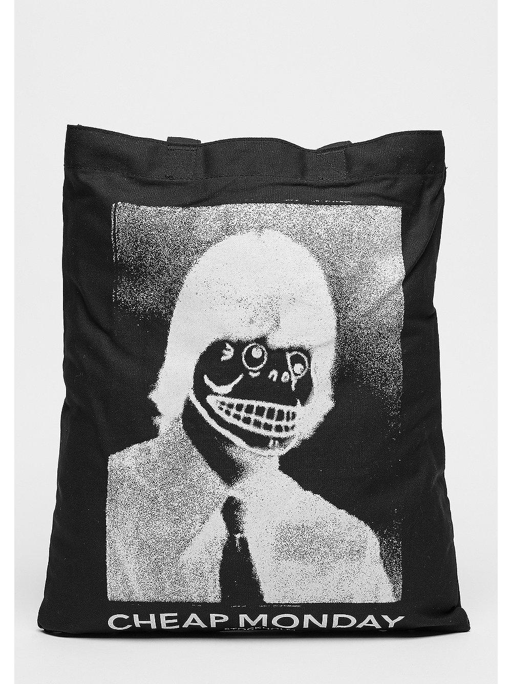 Modern Tote Funny Skull black