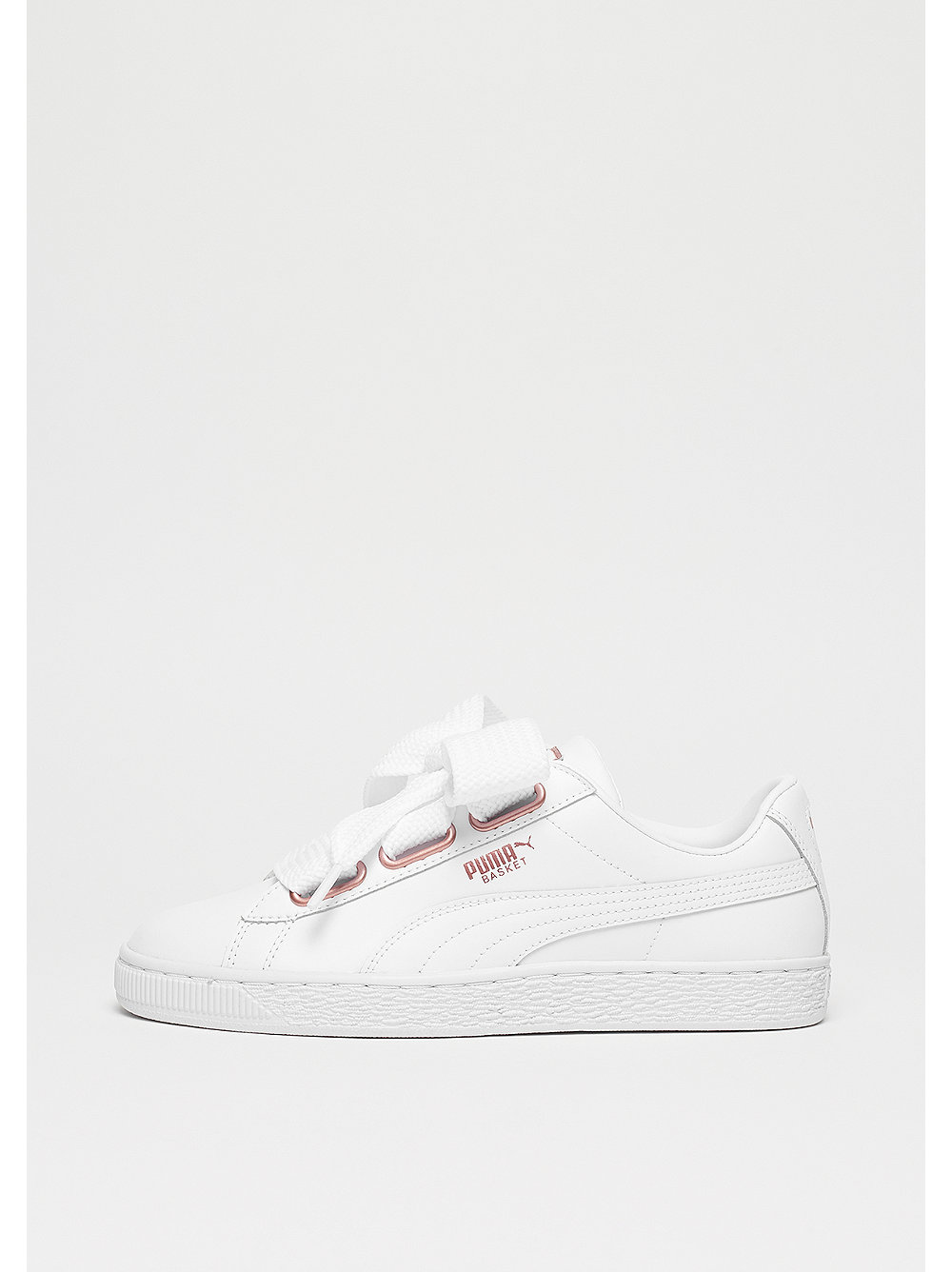 Basket Heart Leather puma white-rose gold