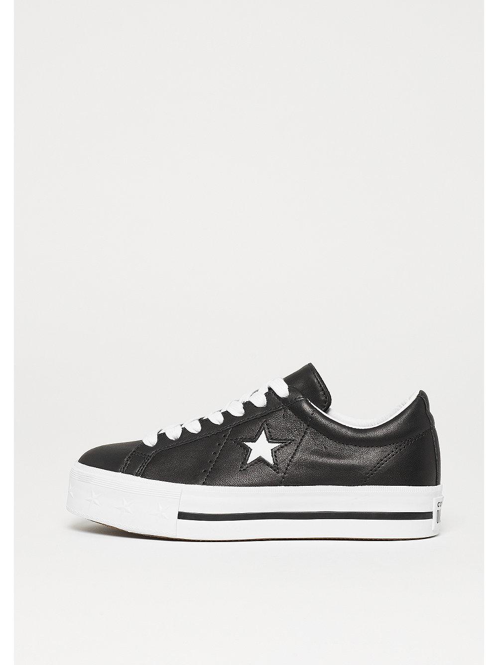 Converse One Star Platform OX black/white/white