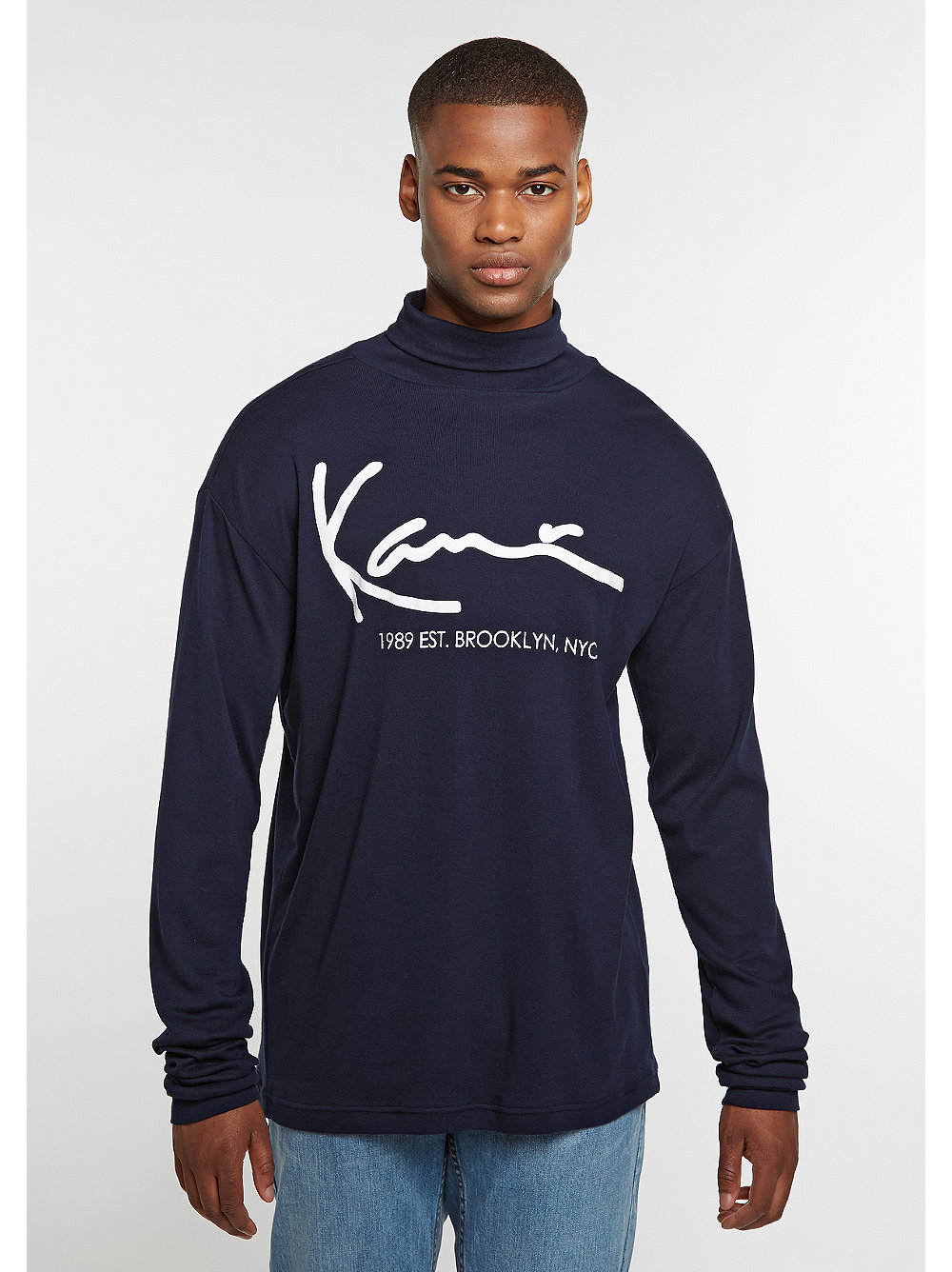 Karl Kani Longsleeve Retro Turtle blue