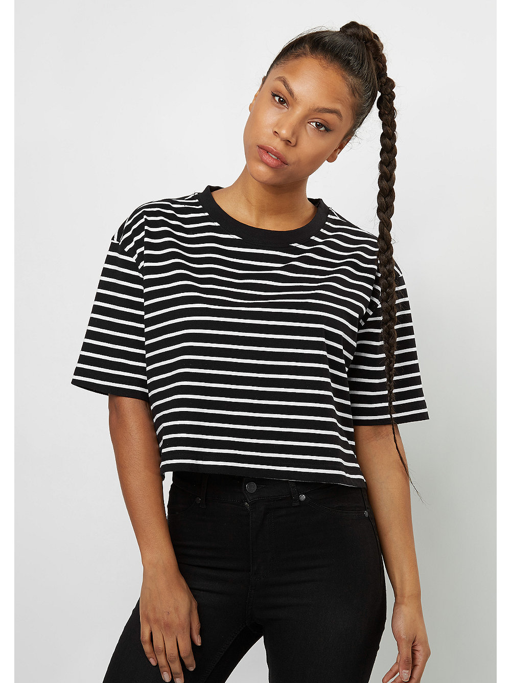 das striped oversized tee black urban classics im snipes. Black Bedroom Furniture Sets. Home Design Ideas