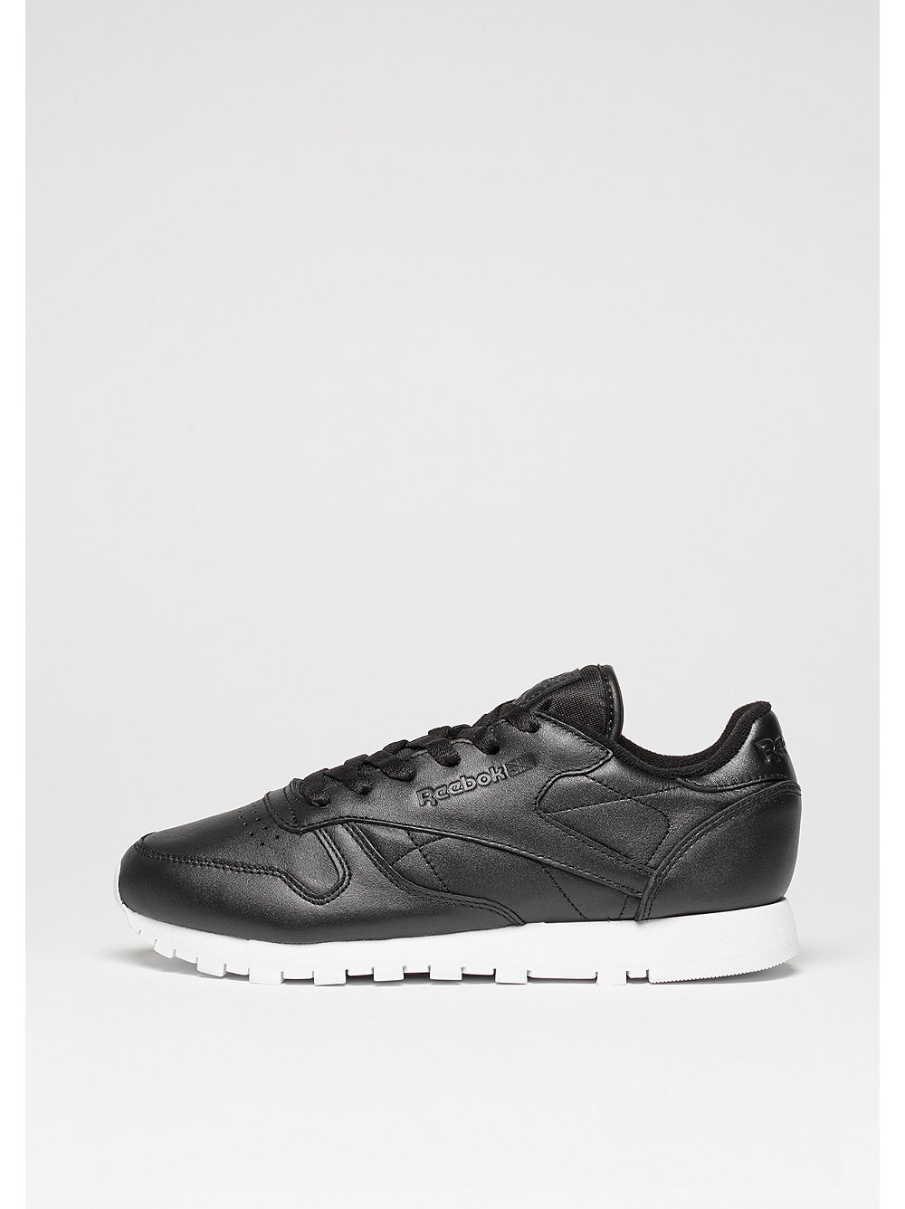 Schuh Classic Leather Pearlized black/white
