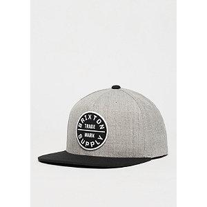 Snapback-Cap Oath III light heather grey/black | Accessoires > Caps > Snapback Caps | Grau | Denim - Wolle | Brixton
