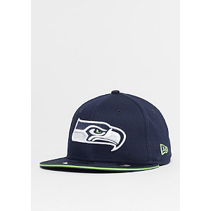 9Fifty NFL Seattle Seahawks Team blue/action green | Accessoires > Caps > Snapback Caps | Blau | Baumwolle | New Era