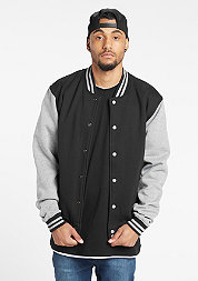 2-tone College Sweatjacket black/grey