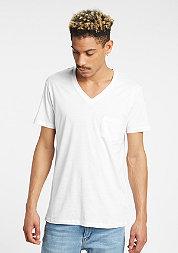 UrbanClassics Tee V Neck Pocket white
