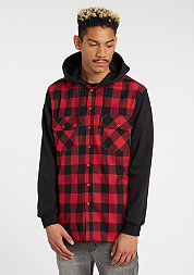 UrbanClassics Shirt Hooded Check blk/red