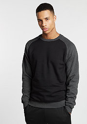 Sweatshirt 2-Tone Raglan blk/cha