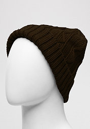 Beanie Cable Flap chocolate
