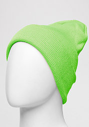 Beanie Basic Flap Long neongreen