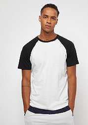 T-Shirt Raglan Contrast white/black