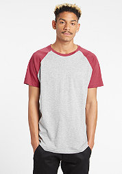Raglan Contrast grey/ruby