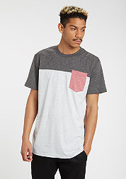 T-Shirt Raglan Contrast black/l.grey/ruby
