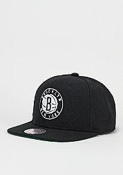 Snapback-Cap Wool Solid Brooklyn Nets black