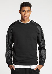 Sweatshirt Raglan Leather Imitation black/black