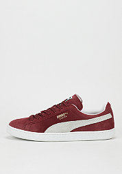 Suede Classic+ cabernet/white