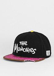 Snapback-Cap Munchies black/pink donut/white