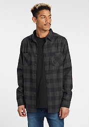 Hemd Checked Flanell black/charcoal
