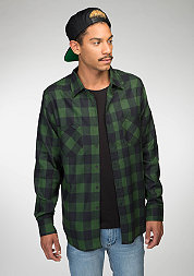 Hemd Checked Flanell Shirt black/forest