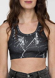 Sprinkled Sports Bra black/white