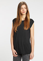 T-Shirt Wide Viscon Sleeveless black