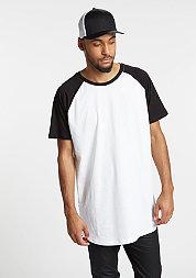 T-Shirt Shaped Raglan Long white/black
