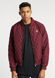 Diamond Quilt Nylon burgundy