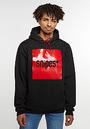 Hooded-Sweathsirt Square black/red