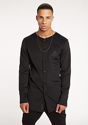 Hemd Cardigan Baseball black