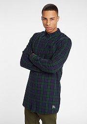 Hemd Shirt Flannel Long green/navy