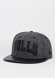 Fitted-Cap Leather Tweed NBA Chicago Bulls black