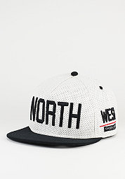 Snapback-Cap North white/black/red