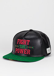 Snapback-Cap Fight Back black/rasta