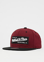 Snapback-Cap Box Logo burgundy/black