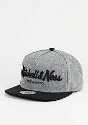 Snapback-Cap Pinscript heather grey/black