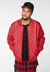 Jacke Diamond Quilt Leather Imitation firered