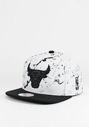 Snapback-Cap Marble Logo NBA Chicago Bulls white