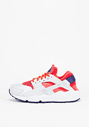 Schoen Air Huarache Run pure platinum/bright crimson/loyal blue