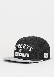 Snapback-Cap The Watcherblack digi camo/grey/white