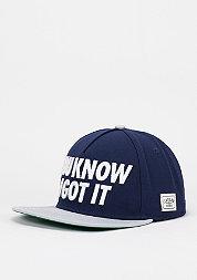 Snapback-Cap WL I Got it deep navy/grey/white