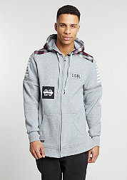 C&S BL Zip Hooded CSBL grey heather/red checked