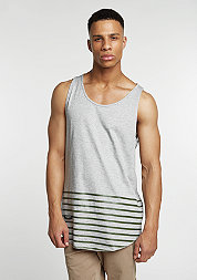 Tanktop On Point Scallop grey heather/olive