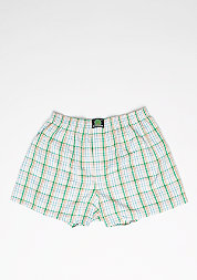 Boxershort Plaid green/light blue/white