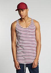 Tanktop Stripe burgundy/white