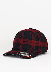 Baseball-Cap Tartan Plaid black/red