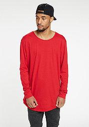 Longsleeve Long Back Shaped Fashion fire red