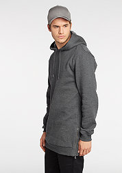 Hooded-Sweatshirt Long Side charcoal