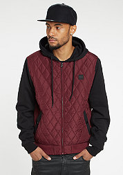 Hooded Diamond Quilt Nylon burgundy/black